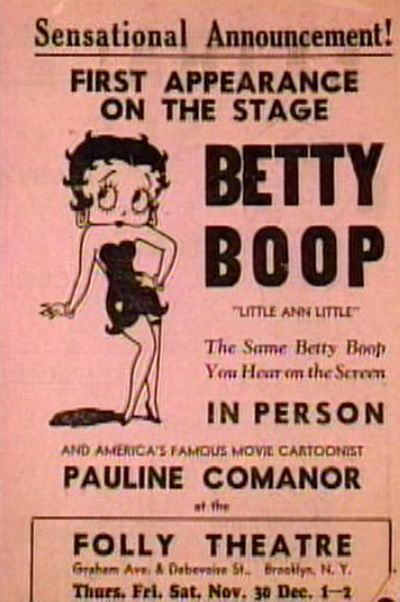 Little Ann Little as Betty Boop Leaflet