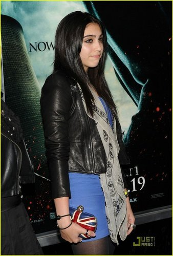 Lourdes on the premiere of Harry Potter 7