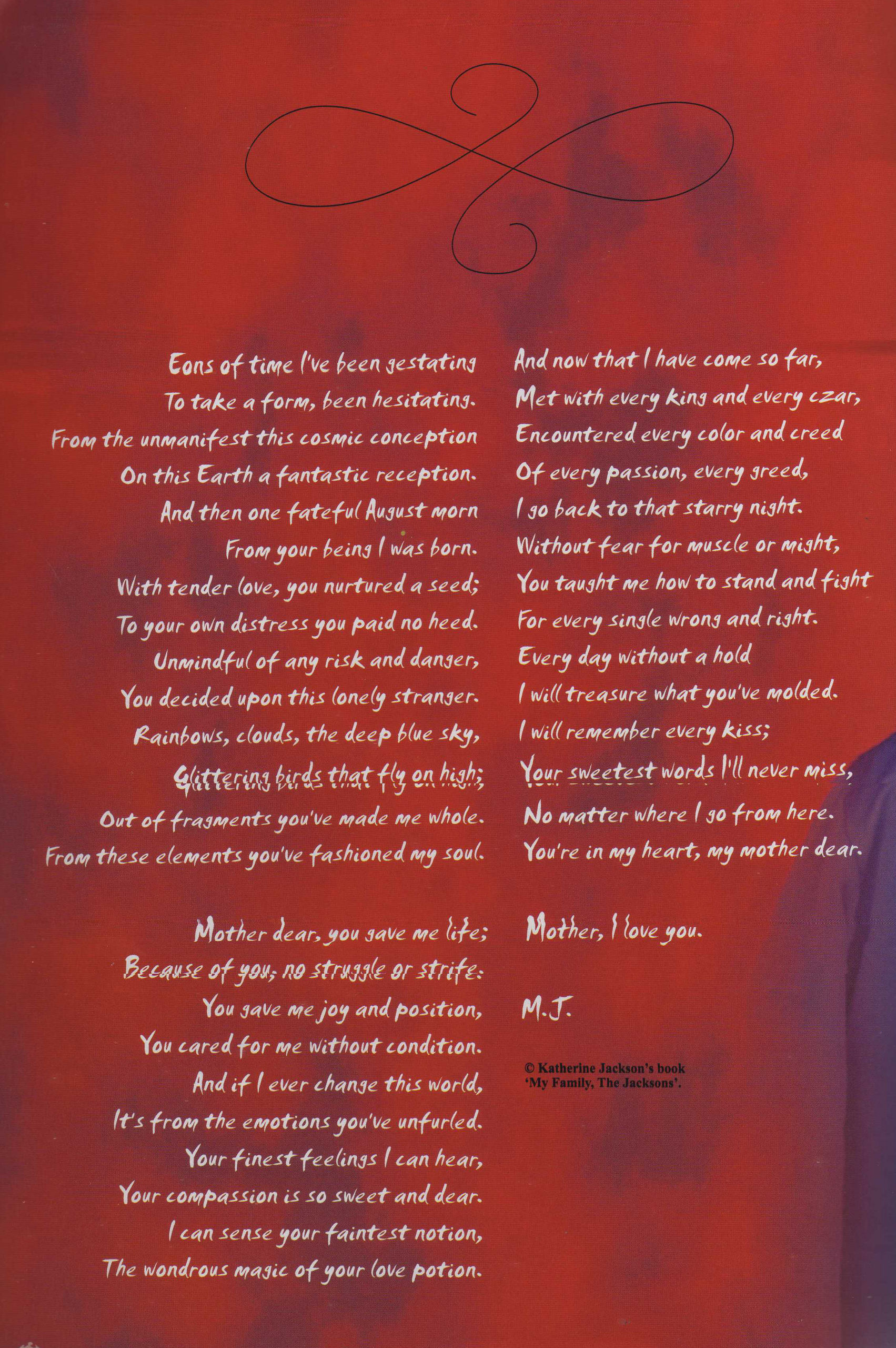 MJ letter to his mother. «3