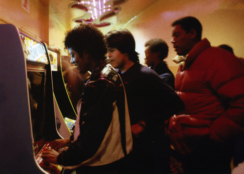 Mj-adorable-playing videogames