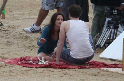 "più ""Breaking Dawn"" filming"