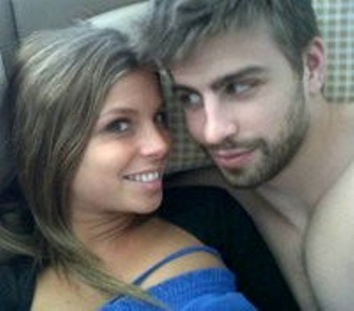 Gerard Piqué wallpaper containing a portrait called Naked Gerard Piqué and girlfriend