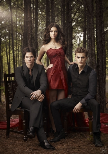 The Vampire Diaries wolpeyper with a business suit titled New promo picture season 2 in UHQ