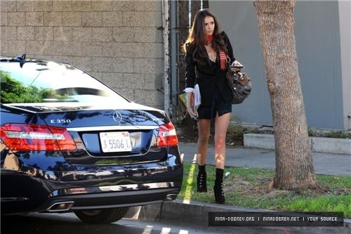 Nina Dobrev wallpaper containing a street entitled Nina in Los Angeles, CA - 15.11.2010