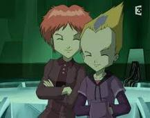 Code Lyoko kertas dinding probably containing a rifleman entitled Odd and Aelita