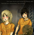 Percabeth-Kiss for good luck
