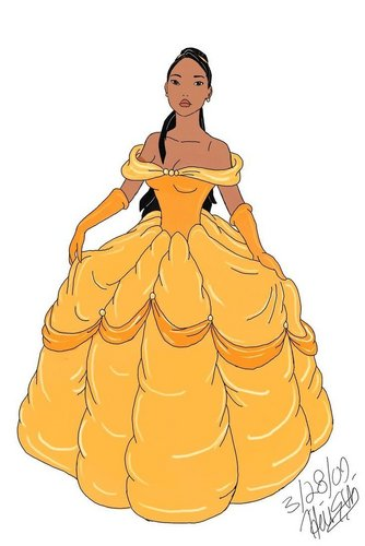 Pocahontas In Belle's Dress