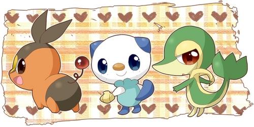 Pokémon wallpaper entitled Pokabu, Mijumaru, Tsutarja