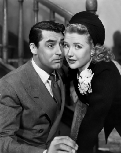 Priscilla Lane and Cary Grant