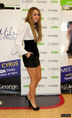 Promoting Her Clothing Line at ASDA Store in Derby,UK,November 9th,2010