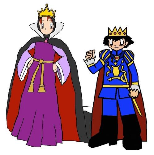 Queen Delia and Prince Ash