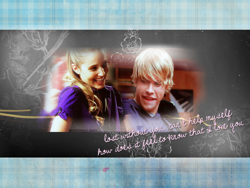 Sam and Quinn wallpaper possibly with a television receiver titled Quinn and Sam