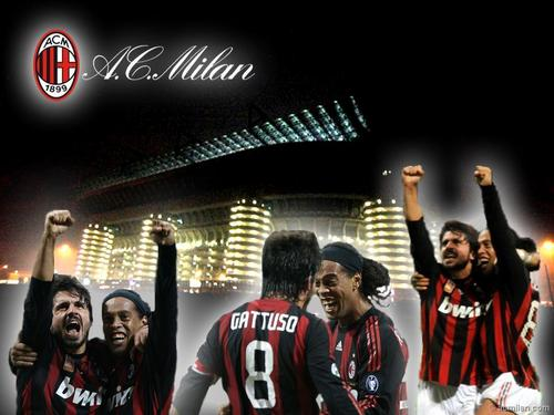Ronaldinho and Gattuso two great players of AC Milan.