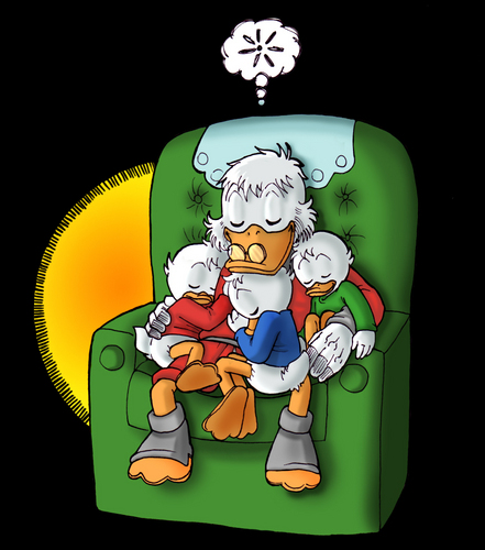 Scrooge loves his nephews