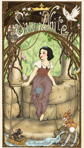 Snow White- Art Nouveau