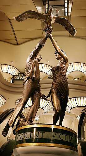 Statue of Dodi Fayed and Princess Diana