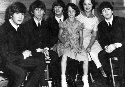 The Beatles with Shirley Temple