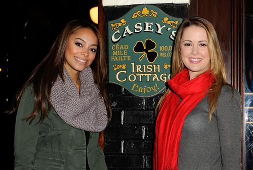 The Cast of Greek Talks to Celebbuzzz About Thanksgiving at Casey's Irish Pub in Los Angeles, CA on