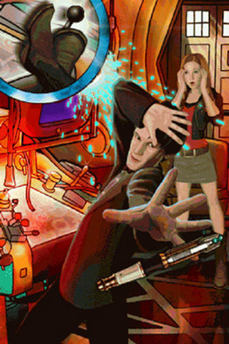 Eleven & Amy wallpaper containing Anime entitled doctor who 'evacuation earth' video game