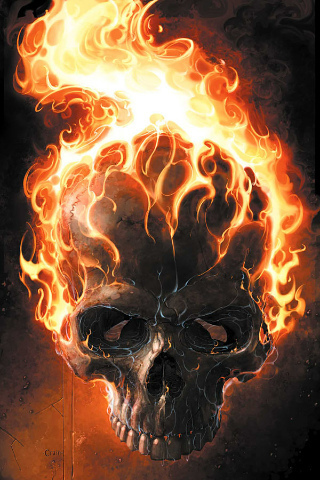 Ghost Rider wallpaper with a fire and a fire titled iPOD walls