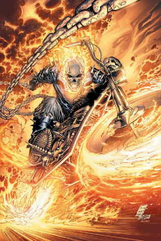 Ghost Rider wallpaper probably containing a street called iPOD walls