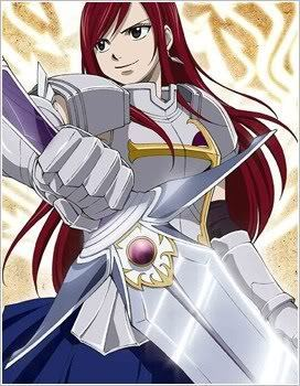 Titania Erza wallpaper probably with anime entitled rock on erza