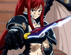 Titania Erza wallpaper titled rock on erza
