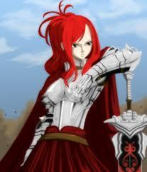 Titania Erza দেওয়ালপত্র with a breastplate called rock on erza