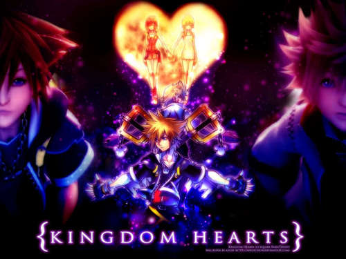 Kingdom Hearts 2 wallpaper entitled two sides to every person