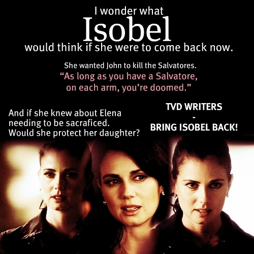 Anyone else want Isobel to come back?
