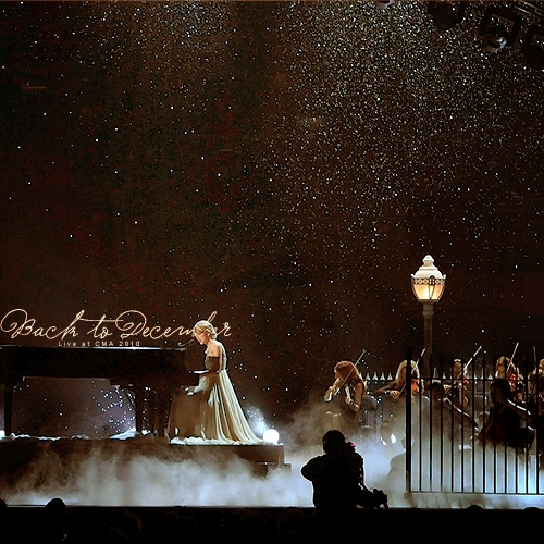 Speak Now wallpaper with a fountain titled Back To December (Live @ CMA 2010) [FanMade Single Cover]