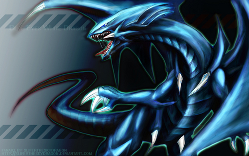 Yu-Gi-Oh 壁纸 probably containing a pacific sardine called Blue Eyes White Dragon