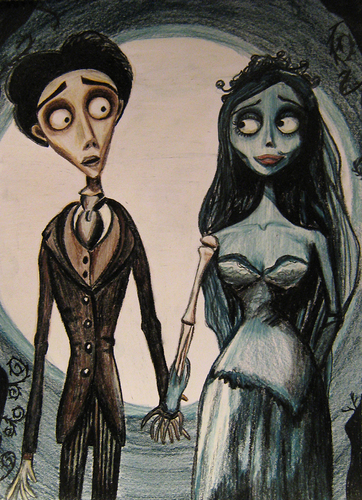 Johnny Depp wallpaper possibly containing anime titled Corpse Bride