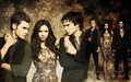 Damon, Elena & Stefan - the-vampire-diaries-tv-show wallpaper