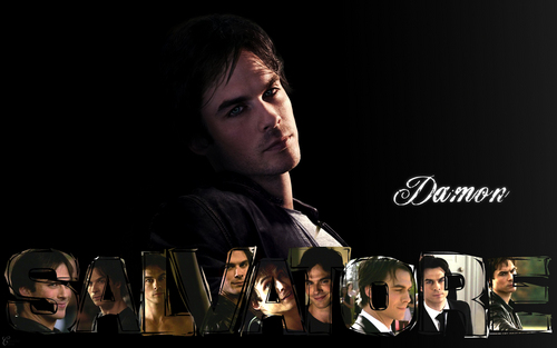 The Vampire Diaries TV دکھائیں پیپر وال probably containing a sign entitled Damon