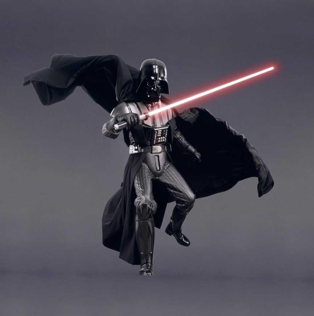 over dramatized darth vader posing in prior promo material. Black Bedroom Furniture Sets. Home Design Ideas