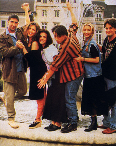 David Schwimmer, Jennifer Anniston, Courteney Cox, Matt LeBlanc, Lisa Kudrow and Matthew Perry