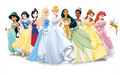 Disney Princess Line up included tinkerbell