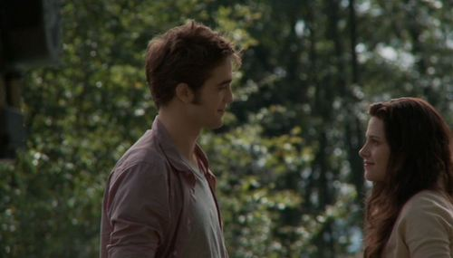 Edward Cullen wallpaper possibly with a portrait entitled Eclipse-Behind Scenes