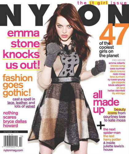 Emma in Nylon Magazine - October 2010