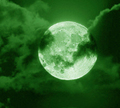 Green Moon - moon photo