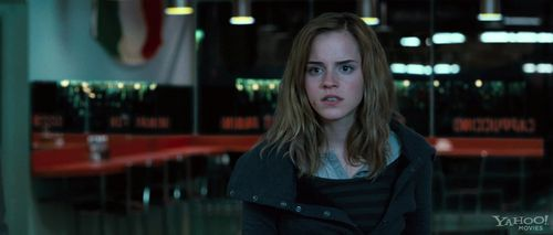 "hermione granger wallpaper possibly with a jalan, street titled Harry Potter and the Deathly Hallows: Clip ""Cafe Attack"""