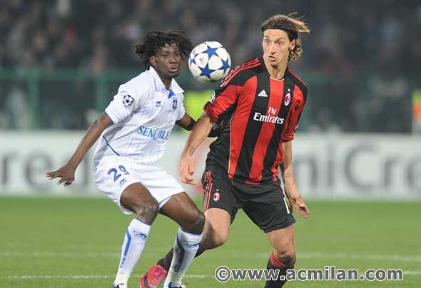Ibrahimovic - Auxerre-Milan 0-2, Champions League 2010/2011