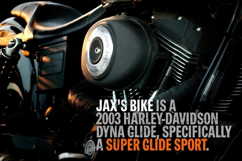"Jackson ""JAX"" Teller वॉलपेपर containing an internal combustion engine and a gasoline engine entitled JAX's Bike"