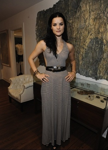 Jaimie Alexander wallpaper possibly containing a playsuit, a blouse, and a sign entitled Jaimie