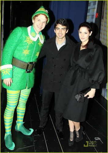 Joe Jonas & Ashley Greene: Elf on Broadway (November 20)