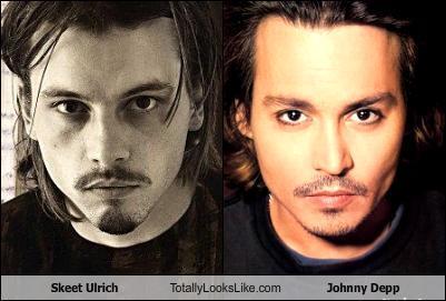 Johnny Depp and Skeet Ulrich