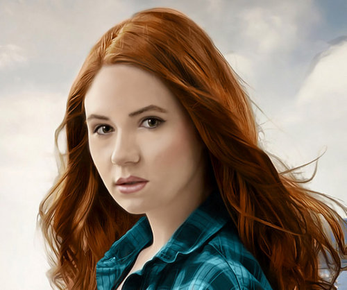 Amy Pond 바탕화면 containing a portrait titled Karen Gillan as Amy Pond