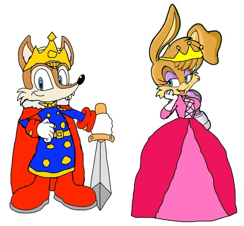 King Antoine and queen Bunnie