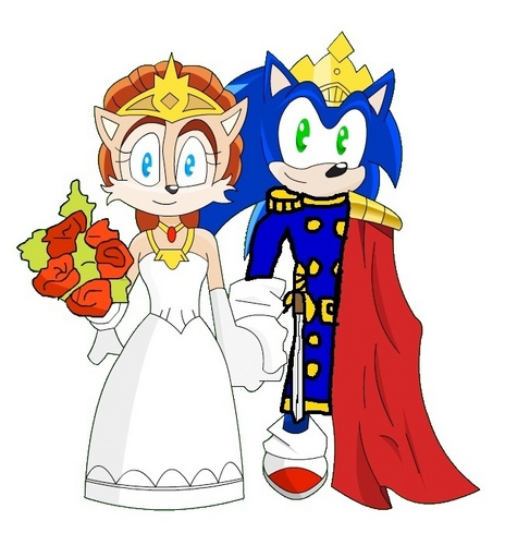 King Sonic and reyna Sally